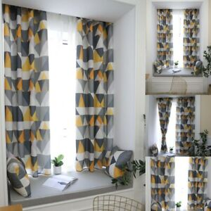 Geometric Printed Curtains For Living Room Bedroom Window Drapes Treatment Decor