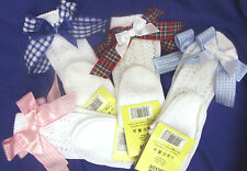 DREAM GIRLS ROMANY KNEE HIGH LONG GINGHAM BOWS  SOCKS ALL SIZES