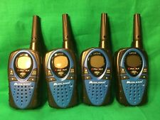 Lot of 4 Midland Walkie Talkies LXT310 X-Tra Talk Blue And Black 10-Mile Range