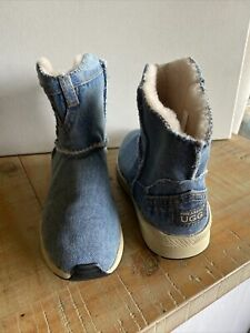 Ugg Denim Shearers  Ladies Ankle Boots Size 6 New