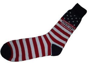Mens Casual Dress Novelty Socks Accents America's Greatest Grandpa Flag