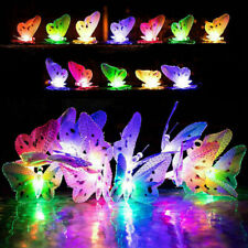 Colorful 12/20 LEDs Solar Power Butterfly String Lights Outdoor Decoration Lamp