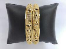 Ethnic 2PC Traditional Bangles Gold Plated Kada Indian Jewelry Fashion Bracelets
