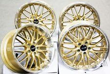 "ALLOY WHEELS 19"" CRUIZE 190 GDP GOLD POLISHED STAGGERED 5X120 19 INCH ALLOYS"