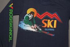 XS * vtg 70s/80s SKI CALIFORNIA Rossignol longsleeve t shirt * tourist 86.53