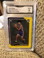 Marvin Bagley III Yellow Rookie 2018 Hoops Graded 9 Sacramento Kings