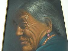 Pastel Portrait einer Tibetanerin von GORAY DOUGLAS um 1955, ein Meisterstück !