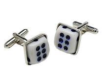 Double Six Dice Casino Cufflinks  NEW  Cuff LInks 10164