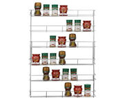 6 TIER SPICE JAR HERB RACK HOLDER FOR KITCHEN DOOR CUPBOARD STORAGE OR WALL HOME