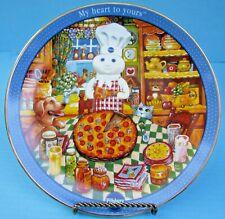 2002 Danbury Mint Pillsbury Doughboy Pizza Party Collector Plate Freeship!