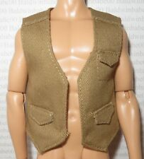 KEN TOP ~ MODEL MUSE DOLL JURASSIC WORLD OWEN TAN CARGO VEST ACCESSORY CLOTHING