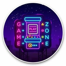 More details for 2 x vinyl stickers 25cm - game zone gaming room gamer  #45126