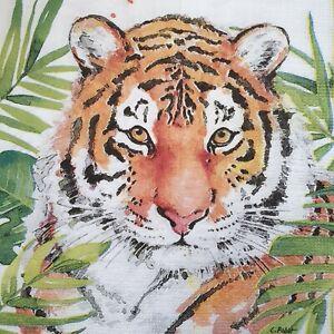 3 Paper Napkins Serviettes Decoupage Napkins Tiger WILD Animal Napkins New