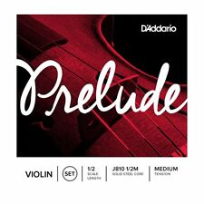 D'Addario Prelude Violin String Set 1/2 Scale, Medium Tension.P/No-j810 1/2
