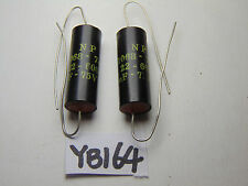 VINTAGE ELECTRONIC NOS CAPACITOR LOT OF 2 NP 1068-7425 3 UF 75 V 22-6009