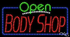 """New """"Open Body Shop"""" 32x17 Solid/Animated Led Sign W/Custom Options 25468"""