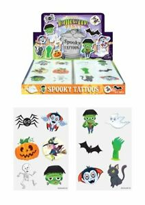 HALLOWEEN Temporary Tattoos Girls Kids Party Loot Bag Fillers  Choose Quantity