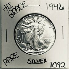 1946 LIBERTY WALKING SILVER HALF DOLLAR HI GRADE U.S. MINT RARE COIN 1092