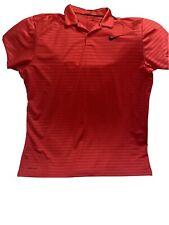 Nike Dri-fit Xl Mens Red Golf Shirt