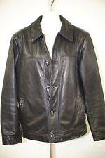 Merona black leather trucker jacket (man size S )