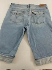Women's Levis 515 Capri Distressed Cropped Jeans Size 14