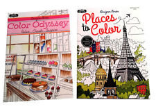 Places to Color Color Odyssey Adult Coloring Book Designer Series Books Set of 2