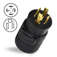 Plug Generator NEMA L14-30P to 6-50R 30A 125V/250V RV EV Charger Power Cord Plug