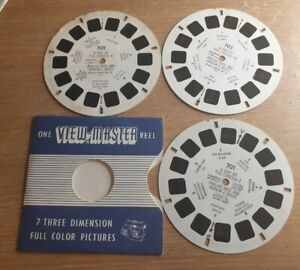 1952 Day at the Circus VIEWMASTER 3 Reels only made in Belgium 701, 702 & 703