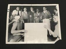 Rare The Rat Pack Original 1961 Chicago Daily News Photo Sinatra Davis Martin
