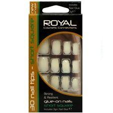 Royal 30 Ongles Carrés Courts avec Colle