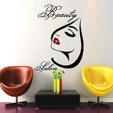 Hair Wall Decal Beauty Salon Stickers Decals Vinyl Hair Girl Woman Decor MN406