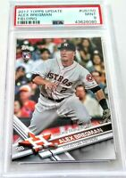 2017 Topps Update - ALEX BREGMAN - RC - FIELDING - PSA 9 - Houston Astros