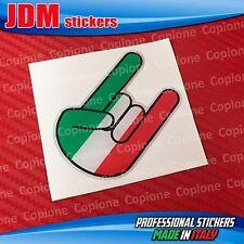 Adesivo 3D resinato STICKER Shocker Rocker hand Corna auto moto ITALIA tricolore