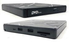 Externes DVD Laufwerk USB 3.0 , 2.0 ,HUB Type C Brenner Slim CD DVD-RW PC Laptop