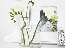 ANTIQUE VINTAGE SHABBY FRENCH CLEAR GLASS MILK BOTTLE BUD VASE SCANDI WEDDING