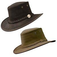 Barmah Foldable Suede Bush Akubra Style Cowboy Hat Sz S-2XL 100% Aust Made