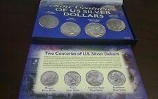 Two Centuries of US Silver Dollars Morgan Peace American Eagle Eisenhower COA
