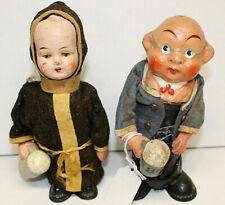 Two Vintage German Hofbrau Drinking doll with Hb Beer Mugs