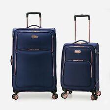 Monterey Fashion 2pc Softside Expandable Dual Spinner Wheel Luggage Suitcase Set