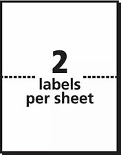 20 Self Adhesive Shipping Mailing Labels 285x11 Sheet