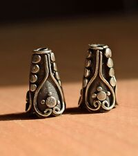 NWOT Sterling Bali Silver cone beads
