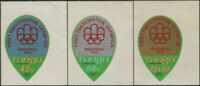 Tonga official 1976 SGO139-O141 Olympic Games Montreal set MNH