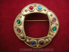 """Broche """"Bouclier Shield"""" N° 1 dorée Temps Médiévaux - Bijoux Vintage Sphinx"""