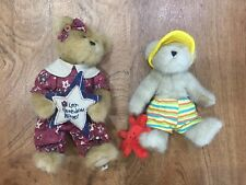 Lot BOYD BEARS COLLECTION THE CRAB BEAR & LET FREEDOM RING PLUSH BEACH USA