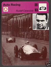 RUDOLF CARACCIOLA 1939 Photo Auto Racing Driver 1977 SPORTSCASTER CARD 10-02