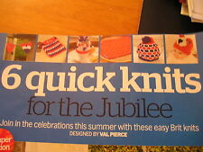 KNITTING PATTERN FOR 6 QUICK KNITS FOR JUBILEE PARTY.