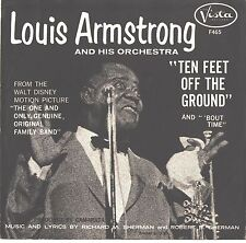 LOUIS ARMSTRONG--PICTURE SLEEVE ONLY---(TEN FEET OFF THE GROUND)--PS--PIC--SLV