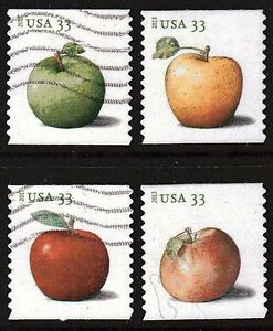 Scott #4731-34 Used Set of 4, Apples Coil