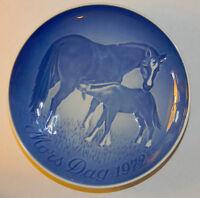 Blue Horses 1972 Mothers Day Plate Bing & Grondahl Royal Copenhagen Denmark