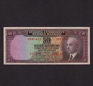 Turkey 50 Kurus L.1930(1942) P-133 * Unc * Not Issued *